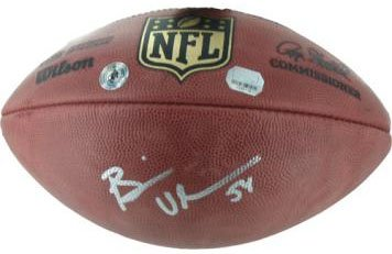 los angeles 50812 c46a4 Brian Urlacher Signed Football-Official at Amazon's Sports ...