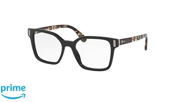 ddb9e0db07b Prada Women s PR05TV Eyeglass Frames 1AB1O1-50 - Black at Amazon Women s  Clothing store
