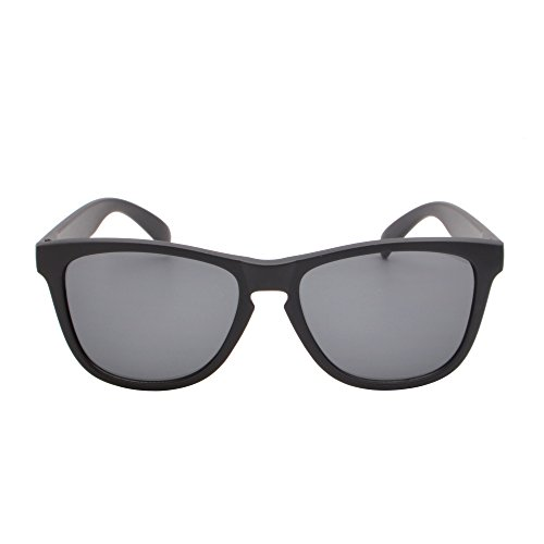 Mate Negro de Espejo UV400 Mujer Gafas de Hombre Original Reflexivo Gris Sol Peso Para Ligero Uxw74qO
