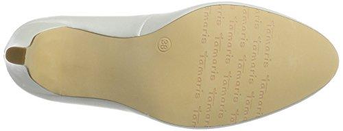 Tamaris 22451, Zapatos de Tacón para Mujer Blanco (WHITE 100)