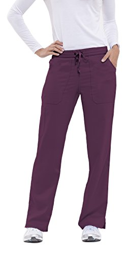 Healing Hands Purple Label Women's Tiffany 9121 Drawstring Cargo Scrub Pant Wine- Medium by Healing Hands