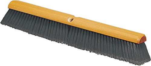 Carlisle 4501323 Flo-Pac Fine Floor Sweep, 18''-Long Wood Block, 3''-Long Gray Flagged Polypropylene Bristles (Case of 12) by Carlisle