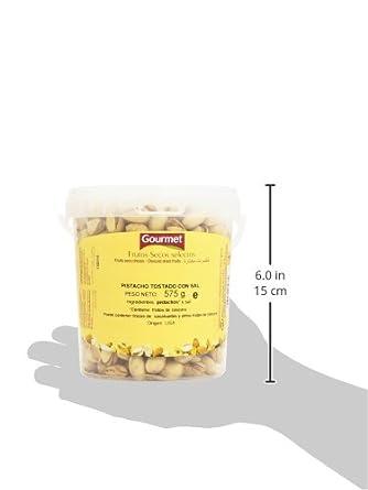 Gourmet - Frutos secos selectos - Pistacho tostado con sal - 575 g: Amazon.es: Alimentación y bebidas