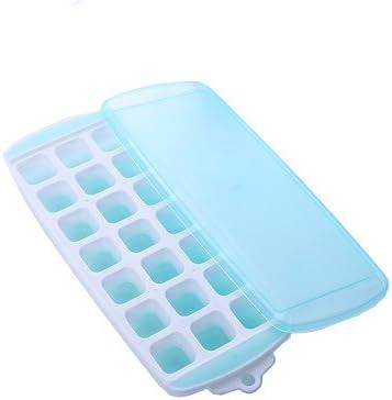 TENDUAGEN Moldes de silicona para cubitos de hielo, bandeja para ...