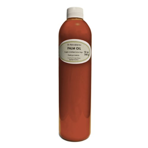 Raw Extra Virgin Red Palm Oil Organic Unrefined 12 Oz