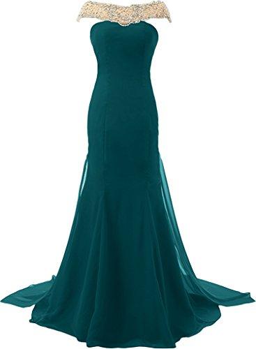 ivyd ressing Mujer Estilo Completo piedras brillantes gasa & tuell Prom vestido festjkleid Fiesta Vestido para vestido de noche Tintenblau