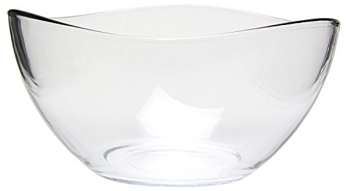 Clear Glass Wavy Serving Bowl - Mixing Bowl 63.5 (Glass Vegetable Bowl)