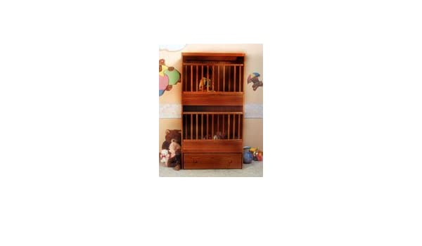 Amazoncom C 2 Two Infant Bunkie Cinnamon Oak Stackable Crib Baby