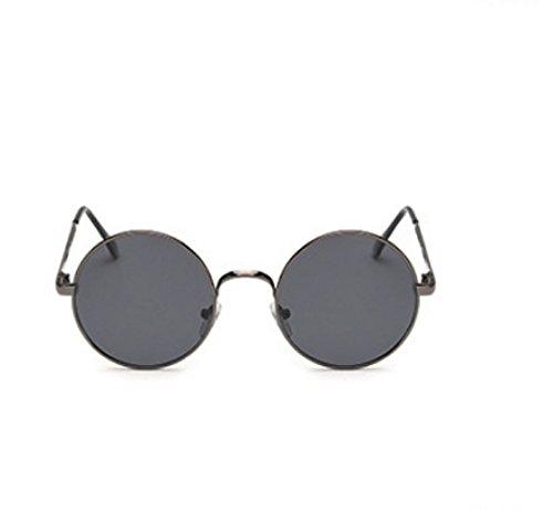Jhon Hippie de Lennon unisex UV400 polarizada modelo sol gafas hombre redondos negro HOF7w