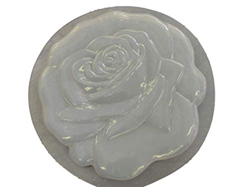 Rose Flower Concrete Plaster Stepping Stone Mold 1104