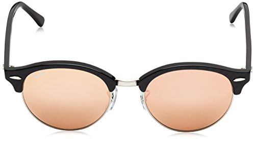 CLUBROUND Noir Blackn Ban Sonnenbrille Brownnk 4246 Top Ray Wrinkled RB Black 4XwUUq