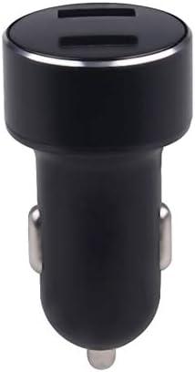 車の充電器、デュアルUSB車の充電器は、充電7 8 XトラベルミレーサムスンHuawei社の携帯電話用車の充電アダプタを表示するLED Charger