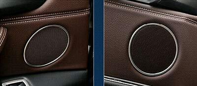 FidgetFidget Speaker Cover Steel Interior Car Door Trim for BMW X5 F15 2014 2015 2016 2017