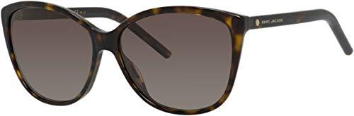 (Marc Jacobs Women's Marc69s Cateye Sunglasses, Dark Havana/Brown Gradient, 58 mm)