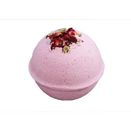 Night of Romance Giant Fizzy Bath Bomb Featuring Jasmine Rose Scent and Real Dried Rose Buds and Rose Petals by Cottage Lane ()