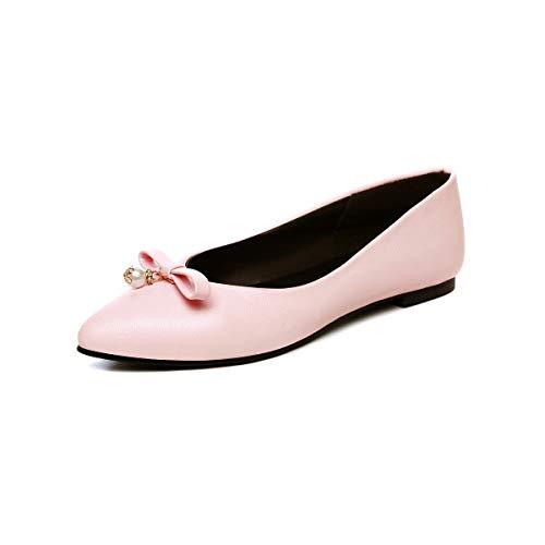 Casual Zapatos Pink Planos la Boca Plana Punta de Mujer la de de qq1v6xa