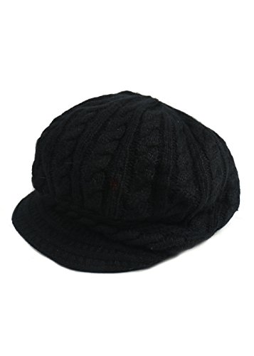 Essential Women CABLE-KNIT CAP WITH VISOR (Halloween Safety Rhymes)