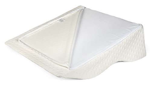 AERIS Large Memory Foam Bed Wedge Pillow for Acid Reflux 25 X 25 X 8.6 - Inch with Machine Washable Bamboo Cover by AERIS (Image #2)