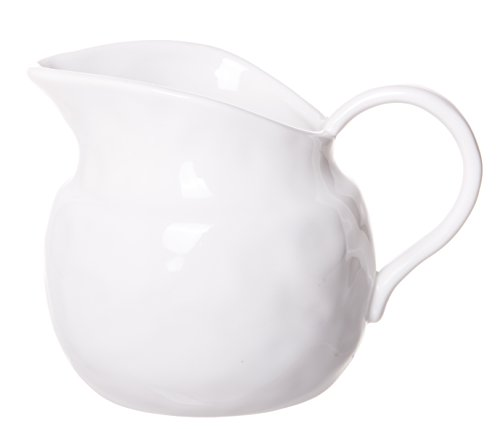Vintage Cream Pitcher - Red Co. Vintage Style Stoneware Pitcher, Glazed Pottery Vase, 4-inch