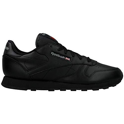 Femme Classic Black Leather Baskets Basses Reebok wRCxZq1w