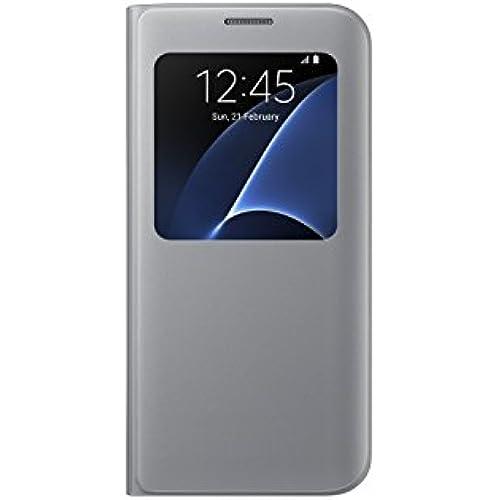 Samsung Galaxy S7 edge Case S-View Flip Cover - Silver Sales