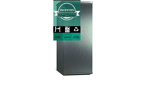 CONGELADOR VERTICAL INFINITON CV128X INOX (140 L, 125 cm, A++, 5 ...
