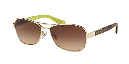 Coach Sunglasses - Caroline / Frame: Gold Lens: Brown Gradient-HC7012910013