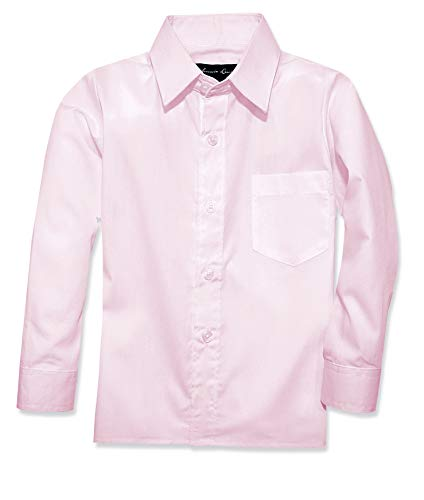 Johnnie Lene Boy's Long Sleeves Dress Shirt from Baby to Teen JJL32 (3T, Pink) by Johnnie Lene