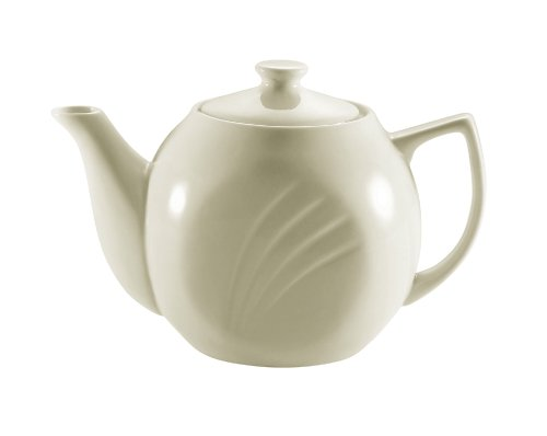CAC China GAD-TP 7-Inch Garden State Porcelain Teapot, 15-Ounce, White, Box of 36 from CAC China