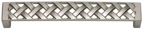 Atlas Homewares Lattice - Atlas Homewares 311-BRN Lattice Collection 5.3-Inch Large Pull, Brushed Nickel