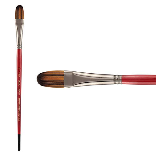 Creative Mark Staccato Artist Paintbrushes Synthetic Long Handled Brushes for Acrylics Handmade and Full Bodied with Springy Response - [Filbert - Size 10]