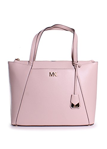 Michael Michael Kors Maddie Medium Leather East West Top Zip Tote Handbag in Soft Pink by Michael Kors