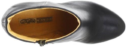 Buffalo London 410-10645 SILK LEATHER - Botas clásicas de cuero mujer negro - Schwarz (BLACK 01)
