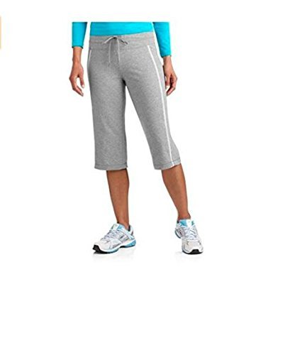 Women's Dri-more Core Striped Bermuda Below Knee Shorts Activewear,Grey,XL (Danskin Capris)
