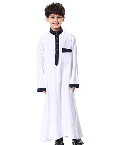 GladThink-Boys-Muslim-Thobe-Long-Sleeves-Mandarin-Neck