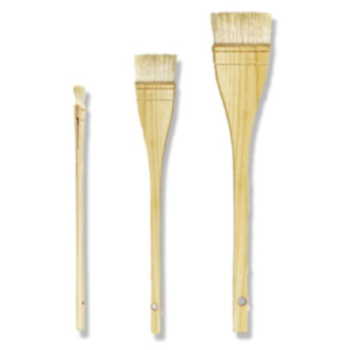 da Vinci Varnish & Priming Series 11245 Professional Hake Brush, White Goat Hair with Plainwood Handle, Size 3 (11245-3)