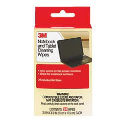 3M Notebook Screen Cleaning Wipes, 3.9  x 6.9 Inches (CL630)