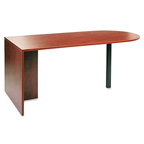 Alera VA277236MC Alera Valencia Series D Top Desk, 71w x 35 1/2d x 29 5/8h, Medium Cherry - Standard Height Cherry