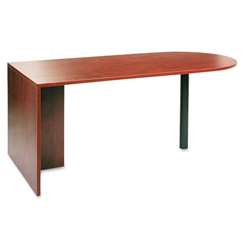Alera ALEVA277236MC Valencia Series D Top Desk, 71w x 35 1/2d x 29 5/8h, Medium Cherry - Valencia Series Desk Shell