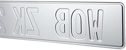 Front License Plate German European Plates For Front Of Car WHITE//RED EMBOSSED
