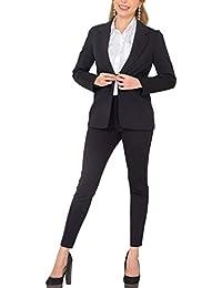 Women's Business Blazer Pant Suit Set for Work