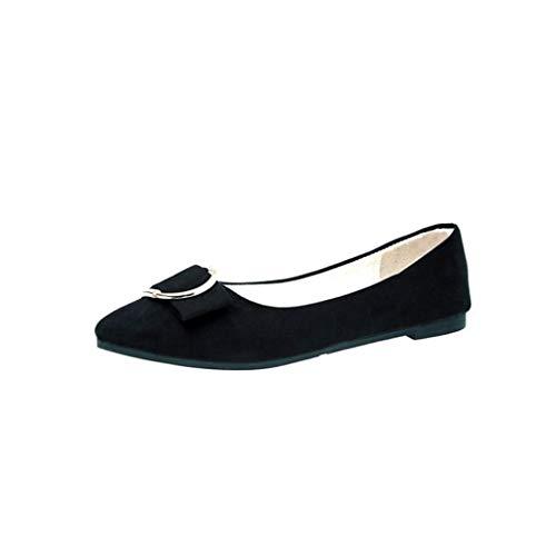 BaZhaHei Bout Chaussures Occasionnelles la la Occasionnelles Mode Plat de Noir Femmes 2d9966