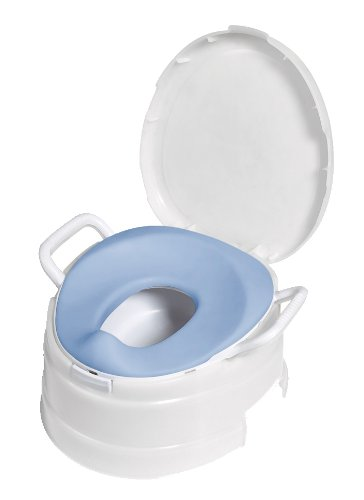 Primo 4-In-1 Soft Seat Toilet Trainer and Step Stool White with Pastel Blue (Baby Bjorn Potty Chair)
