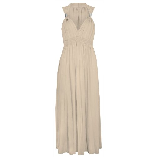Ladies Long Stretch Womens Maxi Dress Coil Spring 1 Size (1 Size, ()