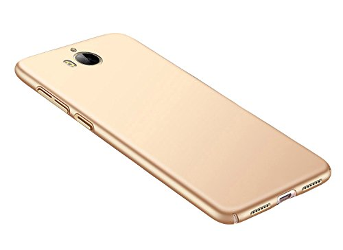 SMTR Huawei Y6 2017 Funda, Calidad Premium Cubierta Delgado Caso de PC Hard Gel Funda Protective Case Cover para Huawei Y6 2017 -Oro Oro