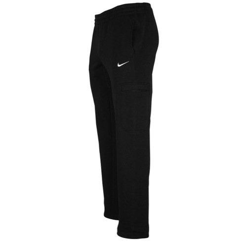 Nike Mens Club Open Hem Utility Sweat Pants-Black-Small