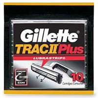 Gillette Trac II Plus Shaving Cartridges - 10 - Razor Blades Trac 11