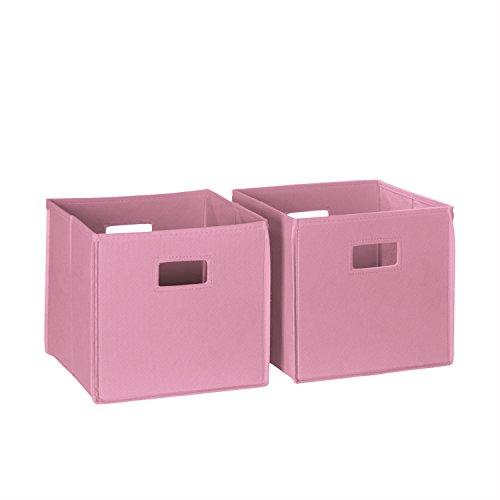 RiverRidge Kids 2-Piece Folding Storage Bins, Multiple Color