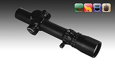 Nightforce NXS - 1-4x24mm - ZeroStop - .250 MOA - FC-3G - NVD - PTL, Black, 30 mm C464 by NightForce