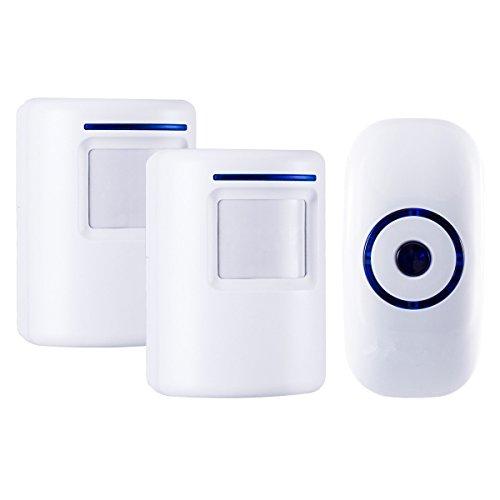 ESPOW Doorbell Chime,Wireless doorbell Motion Sensor Detector Door Bell 36 Chime Tunes with 1000 Feet Operating Range, 2 Plug-in Receiver, 1 Magnetic Door Chime Sensor